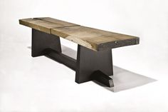 contemporary wooden bench VALENTINS  Peter Hook