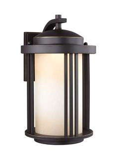 Sea Gull Lighting 8747991S-71 Crowell LED 15 inch Antique Bronze Outdoor Wall Lantern in Not Darksky Compliant