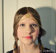 Versailles Chain Headpiece Head Chain Headdress by ravenevejewelry, $24.00