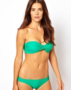 4314b08caa06f All About Eve Twist Bandeau Bikini Top