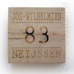 Een Steigerhout naam bord van origineel steigerhout is een uniek naambord voor…