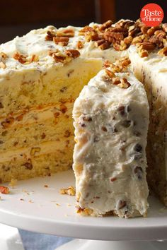 From fluffy angel food to charming butter pecan vintage cakes are making a comeback. Bake your way through this collection of classic recipes and make your grandma proud. Make sure you have the right cake supplies to set your dessert up for sweet success Holiday Desserts, Just Desserts, Delicious Desserts, Dessert Recipes, Yummy Food, Holiday Treats, Recipes Dinner, Picnic Recipes, Holiday Foods