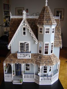 I really like how you have the decorative gingerbread a frame and tower at the front, and then the roof going along behind it meaning a larger room is used for the attic.