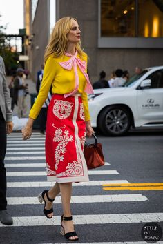 New York SS 2018 Street Style: Lauren Santo Domingo