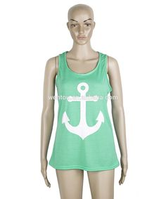 Monogrammed Summer Anchor Bow Tank Top