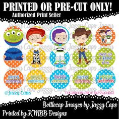 Printed  Precut: TOY STORY 3 Piece ORNAMENTS  1 by KMBBDesigns