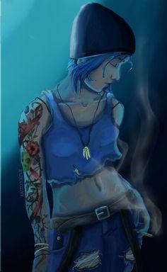 Life Is Strange Fanart, Life Is Strange 3, Chloe Price Tattoo, Arcadia Bay, Profile Photography, Dontnod Entertainment, Blue Haired Girl, Life Tattoos, Time Travel