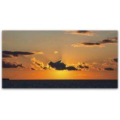 Trademark Fine Art Sunset Beauty Canvas Art by Kurt Shaffer, Size: 16 x 32, Orange