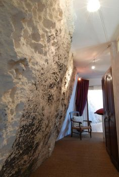 Room Carved Into The Walls Of The World Famous Castle Of Les Baux De  Provence France