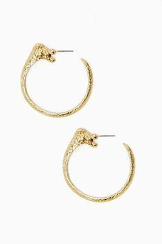Lioness Hoop Earrings