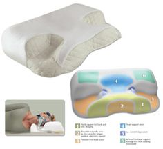 CPAP Sleep Apnea pillow designed to fit the device.