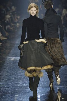 ...fur skirts and velvet sweaters...Gaultier is genius...