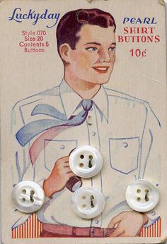 vintage card of buttons | Flickr - Photo Sharing!