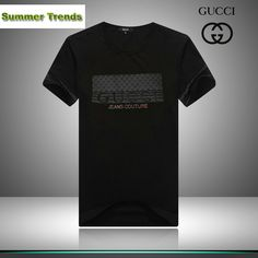 cheap ralph lauren polo shirts Gucci Jeans Couture Short Sleeve Men's T-Shirt Black http://www.poloshirtoutlet.us/