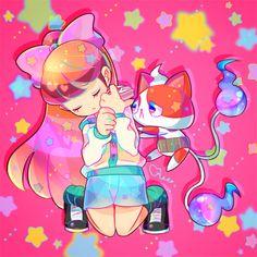 Yo-Kai Watch | Katie (Fumika) and Buchinyan