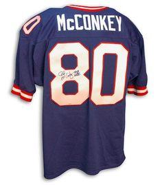 01119537d01b1 Autographed Phil McConkey Blue Giants Throwback Jersey - APE COA. New York  ...
