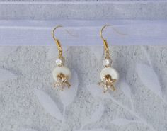 Crystal Flower Earrings by KateMaderDecor on Etsy