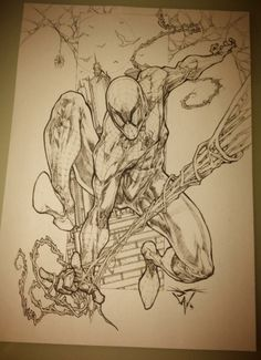 Spider-Man commission by Paolo Pantalena Spiderman Kunst, Spiderman Tattoo, Spiderman Drawing, Comic Book Artists, Comic Book Characters, Comic Artist, Comic Books Art, Marvel Comic Character, Character Art