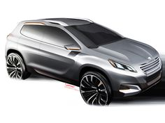 Peugeot Urban Crossover Concept - Design Sketch - Car Body Design