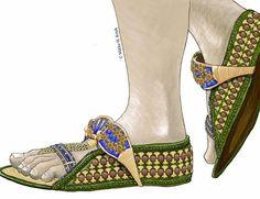 Fancy Footwear from ancient Egypt by Mikko H. Kriek