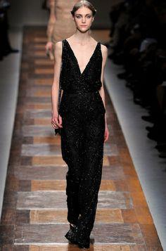 A black long dress. Pret a Porter - F/W 2012-2013 Valentino
