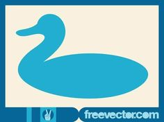 Stylized Duck Free Vector Duck Silhouette, Silhouette Clip Art, Vector Free Download, Free Vector Images, Nature Vector, Zoo Animals, Vector Graphics, Vector Design, Body Shapes