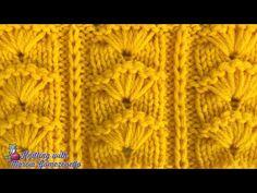TEJIDOS A DOS AGUJAS: Puntada Abanicos/ KNITTING WITH TWO NEEDLES: F4ns - YouTube Knitting Help, Knitting Stiches, Cable Knitting, Easy Knitting Patterns, Knitting Videos, Knitting Designs, Knitting Needles, Knitting Socks, Stitch Patterns