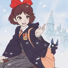 Kiki's delivery service x Harry Potter!