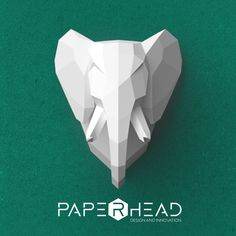 Wall-type  Elephant head template PDF by PaperheadDesign on Etsy
