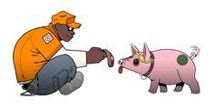 Гориллаз: животное свинья по humon на deviantart
