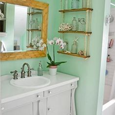 Total gut job, including knocking out walls, tearing out the tub, tossing the flooring, and replacing everything with beautiful vintage-inspired finishes… for $877. (Seriously.)
