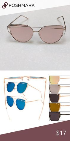7fba724dc4 Cat eye sunglasses Aviator style Similar to Quay Spring temples Rose  colored mirror and rose gold metal rims Lifetime warranty through  manufacturer Solarx ...