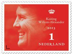 Troonswisselingspostzegel Koning Willem-Alexander