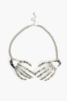 Skeleton Grasp Necklace in What's New at Nasty Gal