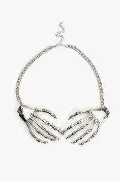 Skeleton Grasp Necklace