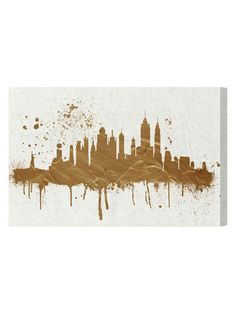 Gold NY Skyline (Canvas) by Oliver Gal at Gilt