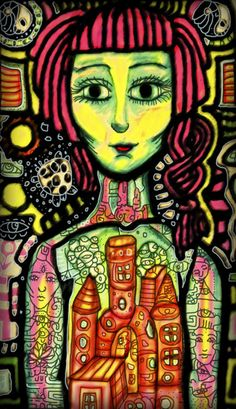 """""""La Emperatriz"""", Colección Arcanos Mayores del Tarot.     Tecnica: Tinta y Lapices de Color sobre Papel e Ilustración Digital. ( Mixed Media)     2009      María Salcedo, México.     lamariadsign.tumblr.com     All rights reserved.     mariadsign@gmail.com     http://www.facebook.com/pages/MaRia-Dsign"""
