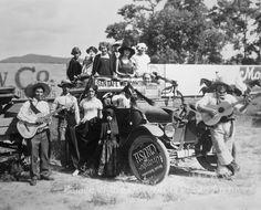 """Orange Crush"" Santa Fe Fiesta float, Santa Fe, New Mexico Date: 1925?"