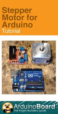 Stepper Motor for Arduino Tutorial - Arduino Board Schrittmotor Arduino, Arduino Stepper, Arduino Programming, Arduino Board, Robotics Projects, Diy Tech, Raspberry Pi Projects, Electronic Engineering, Stepper Motor