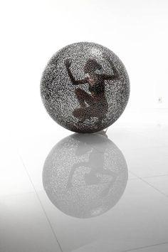 stainless steel sculpture @ Sculptura.com  www.listen4life.com