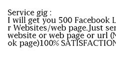500 Facebook Likes to Your Websites
