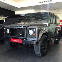 "NEW - FOR SALE: 2016 Land Rover Defender 110 Gulf Specs 0km Leather Seats Sunroof 20"" Mondial Wheels.  For inquires please contact Ben on 971 4 338 8001 / 971 56 105 8773 / ben@s-t.ae @signaturetechniques  #signaturetechniques #kahnuae #uae #uaecars #abudhabi #mydubai #abudhabicars #dubai #dubaicars #arabcars #saudicars #ksa #riyadh #jeddah #kuwait #qatar #bahrain #customcars #modifiedcars #luxury #luxurylife #blacklist #carporn #landrover #landroverdefender #kahndesign #vip #bespoke…"