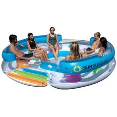 Sun Pleasure Tropical Tahiti Floating Island, Giant Float and Carrying Bag - use in Lake, Ocean, River, Pool Floats for up to 6 People Pump Not Included Lake Rafts, Pool Rafts, Tahiti, Inflatable Floating Island, Lake Floats, Raft Boat, Pool Floats For Adults, Flamingo Float, Vinyl Pool