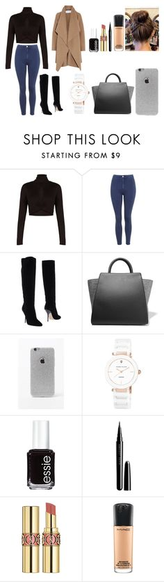 """Untitled #454"" by kalieh092 on Polyvore featuring BCBGMAXAZRIA, Topshop, Jimmy Choo, ZAC Zac Posen, LA: Hearts, Anne Klein, Essie, Marc Jacobs, Yves Saint Laurent and MAC Cosmetics"