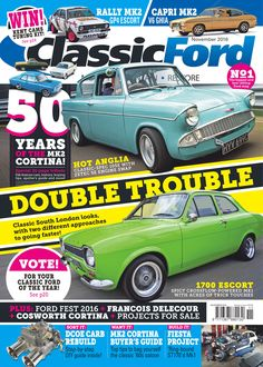 TGI Friday! Even better, there's a brand-new issue of the magazine out today celebrating 50 years of the Mk2 Cortina, plus how to rebuild your Weber DCOE carb, project tips and tricks and a whole lot more - all in the November 2016 issue! http://www.classicfordmag.co.uk/the-magazine/current-issue/classic-ford-november-2016-2/