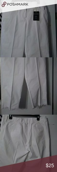 ZAC & RACHEL ANKLE PANT SIZE 12 NWT ANKLE JEANS 77% COTON  20% POLYESTER 3% SPSNDEX Zac & Rachel Jeans Ankle & Cropped