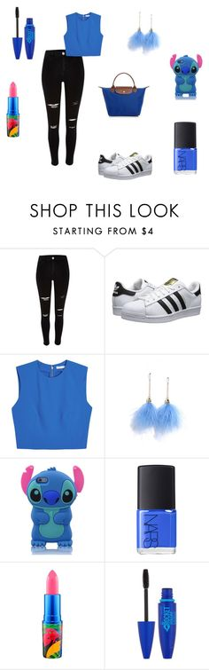 """back to school 2"" by lamisslove on Polyvore featuring mode, River Island, adidas Originals, Alice + Olivia, Lulu*s, NARS Cosmetics, MAC Cosmetics, Maybelline et Longchamp"