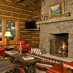 Living Room Cabin Design, Pictures, Remodel, Decor and Ideas