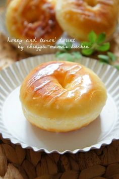Frying bowl of frying ♪ Honey honey lemon donut Lemon Dessert Recipes, Sweets Recipes, Baking Recipes, Japanese Sweets, Japanese Recipes, Donut Recipes, Unique Recipes, Food Design, Easy Cooking