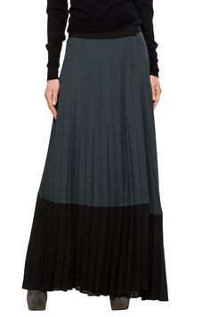 266f9c89c02c A.L.C. Maxi Pleated Skirt in Charcoal